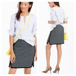 J. Crew Double-Notch Mini Skirt in Houndstooth